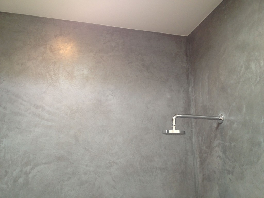 Tile Over Painted Concrete Walls